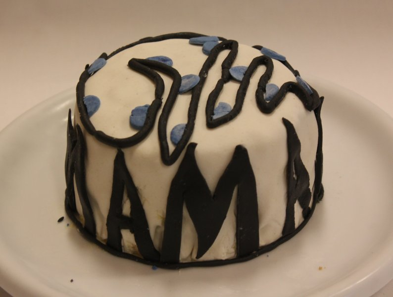 Svartblå Tårta