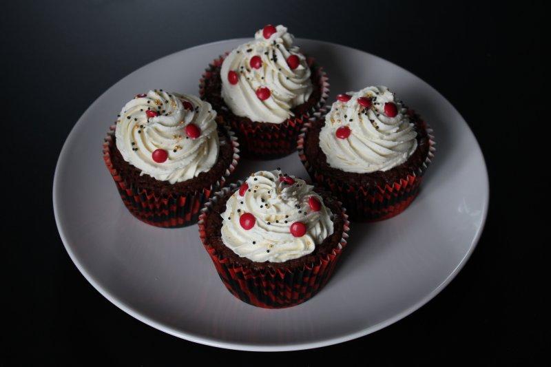 Kladdkakecupcakes