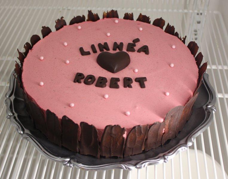 bröllopstårta med får namn chokladhjärta