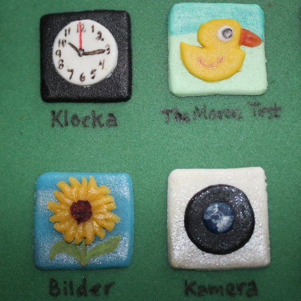 iPhone 5 appar klocka, bilder, kamera, moron test