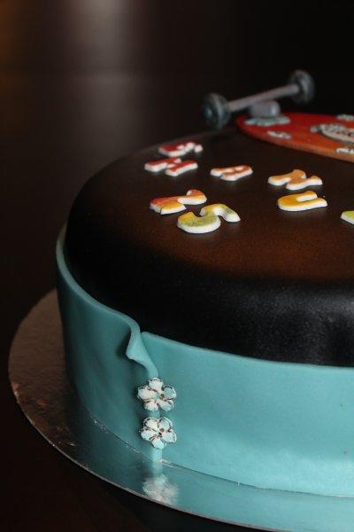 Longboardtårta från sidan