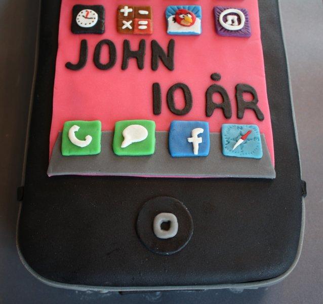 iPhone text och appar