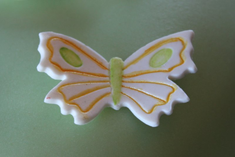 Vårtårta närbild fjäril