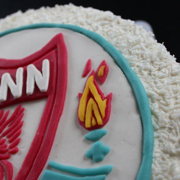 Liverpool fc-tårta eld