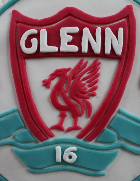 Liverpool fc-tårta logga