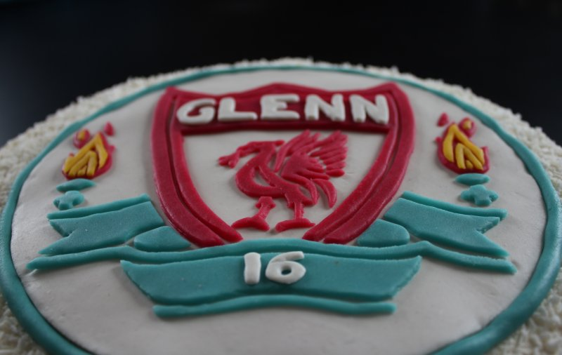 Liverpool fc-tårta flagga
