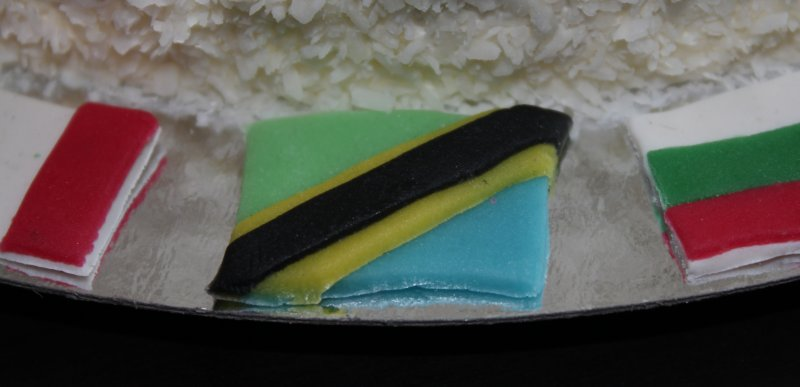 FN-tårta närbild flagga