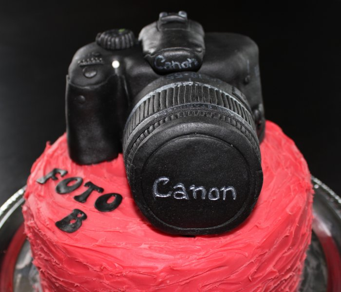Kameratårta Canon objektiv