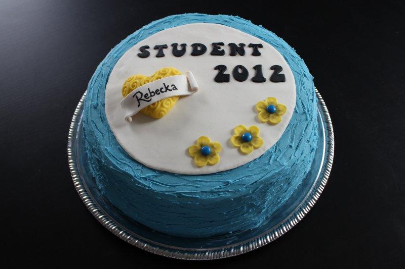 Studenttårta med hjärta