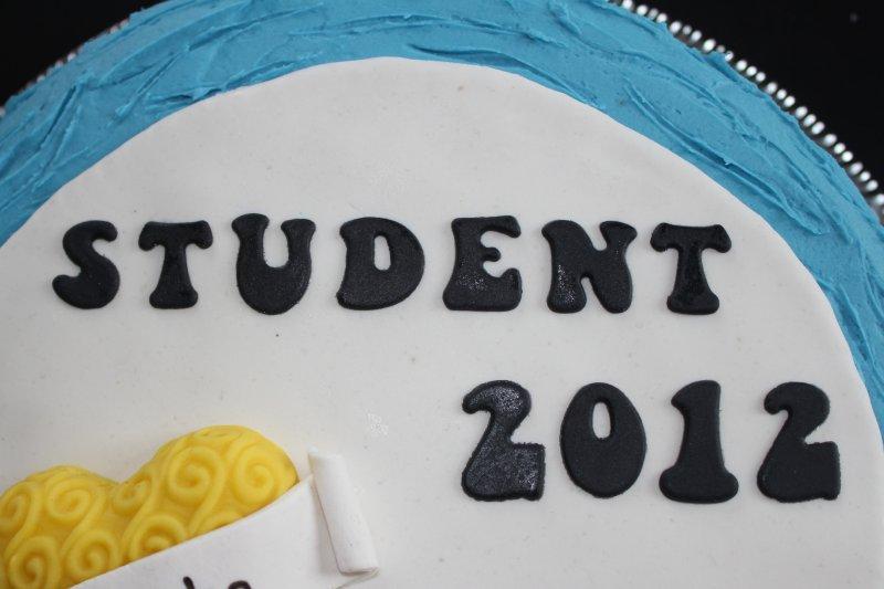 Studenttårta text