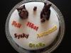 Hösttårta olika språk med ekorre och uggla