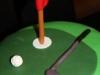 Golftårta närbild