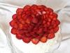 Somrig jordgubbstårta