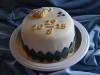 Bröllopstårta med hjärta