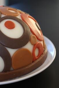 Cirkeltårta från sidan